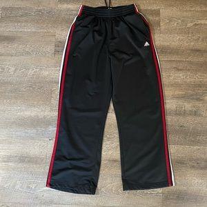 Adidas Black & Red Striped Sweatpants